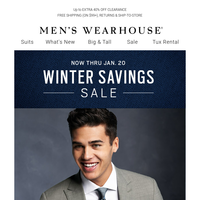 2 days left: $149.99 select suits + up to 70% off outerwear
