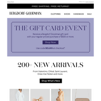 See What's New + Earn A BG Gift Card