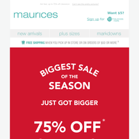 2 days only: $15 maurices jeans 👖