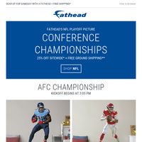 Fathead's Playoff Picture: Conference Championships
