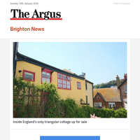 Brighton News: Inside England's only triangular cottage up for sale