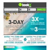✅ TODAY! 3X Codes | 3-Day Wknd Deals