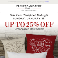 25% Off Top Gifts & Free Shipping Ends Today
