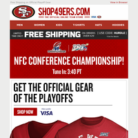 The NFC Championship Game Kicks Off Today! Get the Gear Here