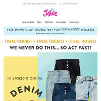 FINAL HOURS to shop $10 denim! ⏳