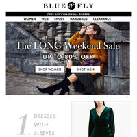 Bluefly - Have you shopped the sale yet? Savings up to 80%