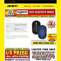 Exclusive Coupon: 1/2 Price Logitech Bluetooth Mice