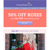 $29.99 Valentine's Roses - Order Now! This won't last.