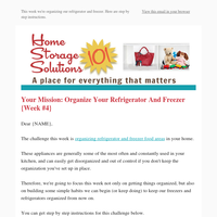 Organize Your Refrigerator And Freezer: Week #4 Organized Home Challenge