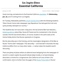 Essential California: Why the idea of a 'home state' paper is absurd