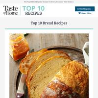 Top 10 Bread Recipes