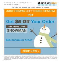 just HOURS left to save with code: SNOWMAN