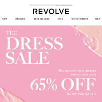 dresses you love up to 65% OFF!