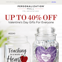 Celebrate Love 💜 40% Off Valentine's Gifts For Everyone