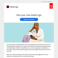 [On-Demand] Start the year with the new Adobe Sign