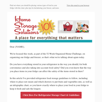 Refrigerator Storage Chart & Guidelines, Plus How To Declutter Your Freezer & More
