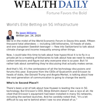 World's Elite Betting on 5G Infrastructure