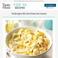 10 Recipes We Stole from Our Aunts