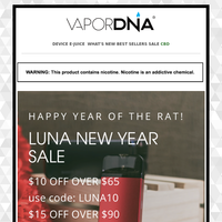 Happy Year of the Rat! Luna New Year Sale Starts Now!