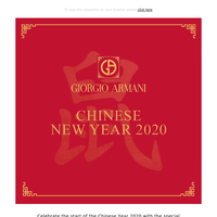 Happy Chinese New Year from Giorgio Armani