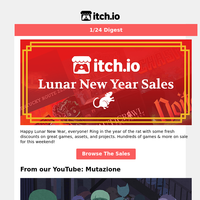 itch.io Digest: 🐭 The Lunar New Year Sales Are Here!