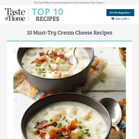 Must-Try Cream Cheese Recipes
