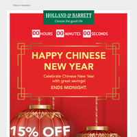 Chinese New Year offers inside
