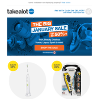 The BIG January Sale is STILL ON! SAVE up to 50% on Tech, Home, Sport & more! 🤑🛒