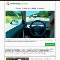 Tesla's Stock Price Is Soaring