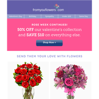 Red Roses, Pink Roses, Mixed Roses.. All 50% Off!