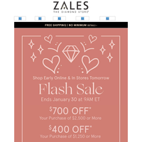 EARLY ACCESS! Save Up to $700 On Valentine's Day Gifts