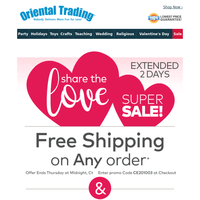 We Love Valentines (and you!) FREE Shipping on ANY Order!