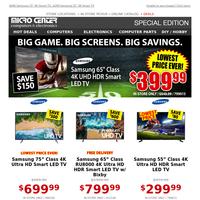 Lowest Price Ever! $399 Samsung 65\
