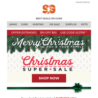 $10 OFF $50 Extended + See What Santa Has In His Sleigh Just For You