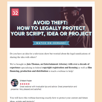 Avoid Theft: How To Legally Protect Your Script, Idea or Project