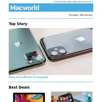 Navy-blue iPhone 12 revealed