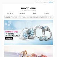 Valentines Day Ideas: Cool and splashy blue Aquamarine jewelry!