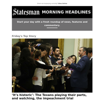 'It's historic': The Texans playing their parts, and watching, the impeachment trial