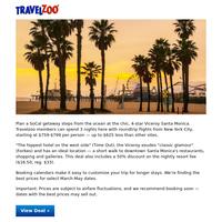 LA: Chic Santa Monica Getaway w/NYC Flights, $759-$799 & up