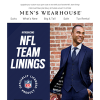 Show your confidence for the biggest weekend in football with our NFL team linings