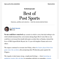 Best of Post Sports: An unimaginable tragedy