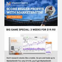 🏈  Betting on the wrong stocks? Join Team MarketSmith and tackle the market! 🏈