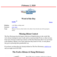 Word of the Day, February 2, 2020
