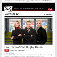 Don't miss: Live Six Nations Rugby Union at 2:30pm on BBC One London