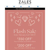 Our Early Valentine's Gift To You: Take Up to $350 Off! Tonight Only