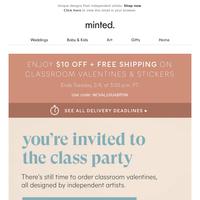 Their classroom valentines, their way.