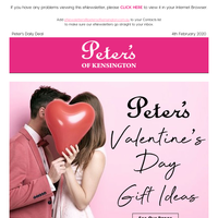 Peter's Valentines Day Gift Ideas