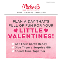 Hey, You! We're Giving You BIG Valentine's Day Savings — Perfect for Your Kids' School Exchange ❤️