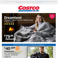 Dreamland Relaxwell Deluxe Faux Fur Heated Throw @ £79.99 | NEW Savings on Proform Exercise Equipment in Your Local Warehouse
