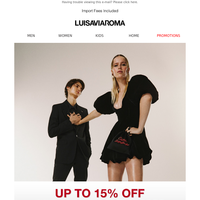 Love is in the air: up to 15% off Spring Summer 2020